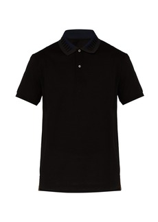 Paul Smith Striped collar polo shirt