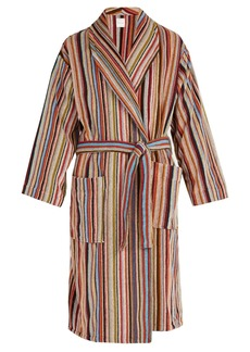 Paul Smith Striped cotton bathrobe
