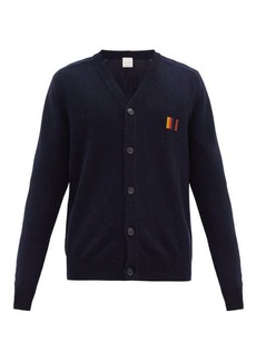 Paul Smith Striped-embroidered wool cardigan