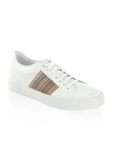 Paul Smith Striped Low Leather Sneakers