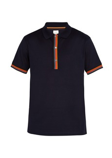 Paul Smith Striped-placket cotton-piqué polo shirt