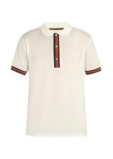 Paul Smith Striped-placket cotton polo shirt