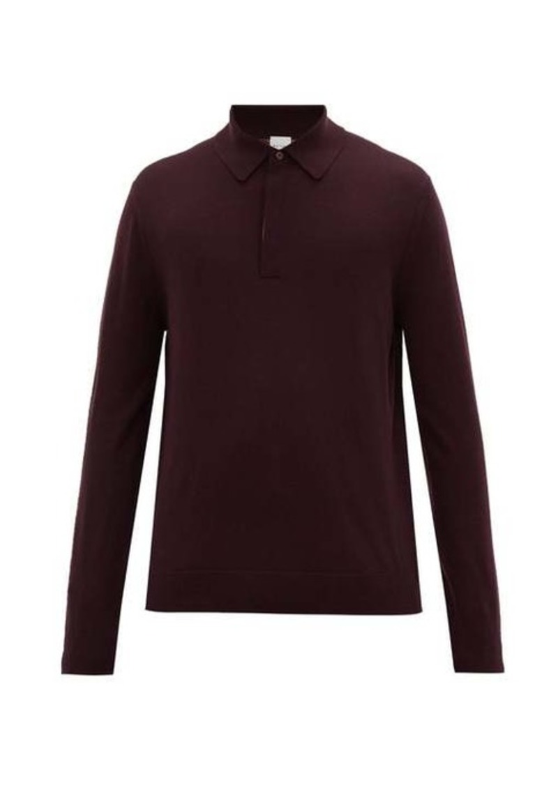 Paul Smith Striped-placket merino-wool polo shirt