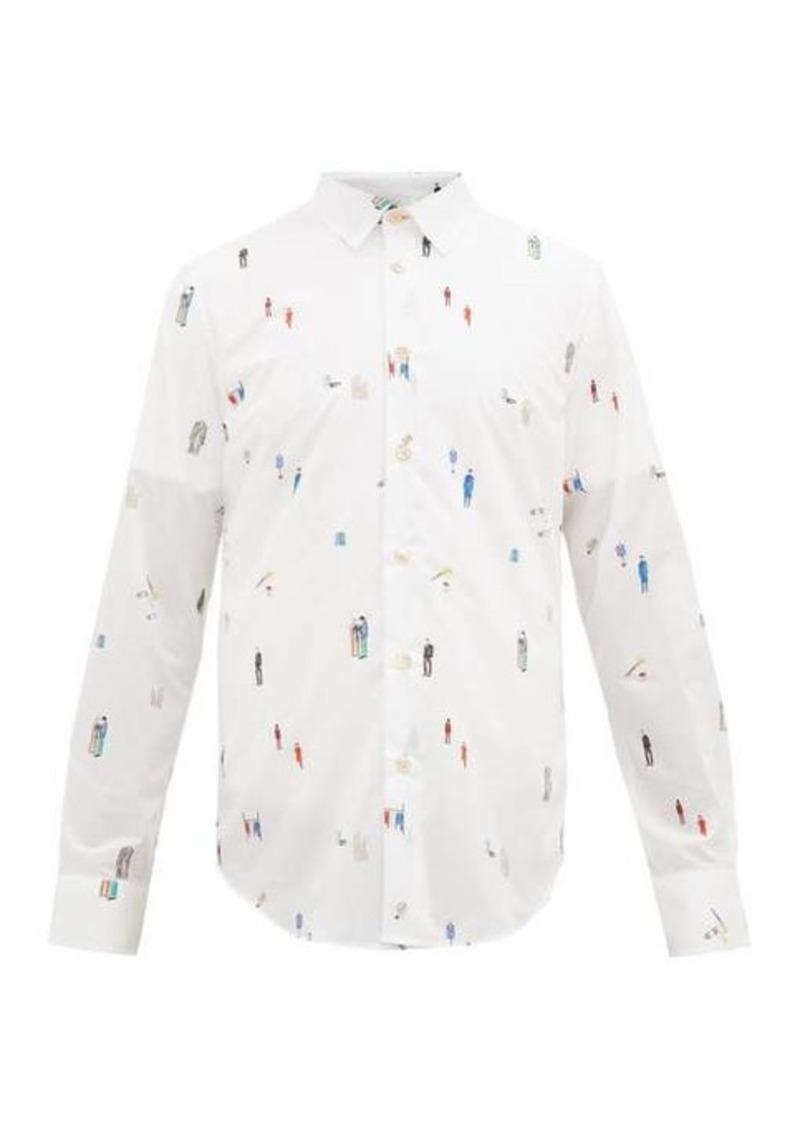 Paul Smith Tailoring-print cotton shirt