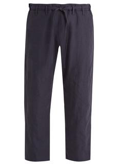 Paul Smith Tie-waist wide-leg linen cropped trousers