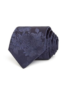 Paul Smith Tonal Floral Print Silk Classic Necktie
