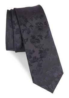 Paul Smith Tonal Floral Silk Tie