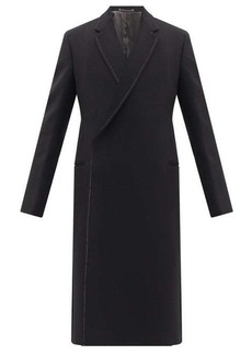 Paul Smith Topstitched wool-blend double-breasted overcoat