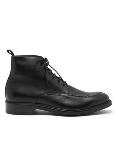 Paul Smith Trent pebbled-leather derby boots