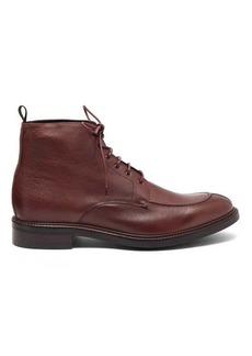 Paul Smith Trent Signature-stripe trim leather boots