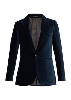 Paul Smith Single-breasted velvet blazer