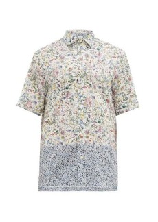 Paul Smith Wildflower-print banded-hem cotton-poplin shirt