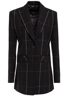 Paul Smith Woman Checked Wool-twill Blazer Black