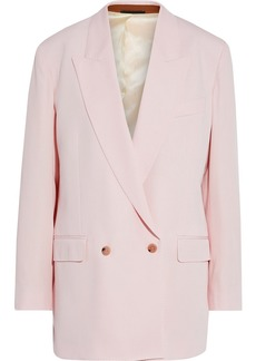 Paul Smith Woman Double-breasted Wool-twill Blazer Baby Pink