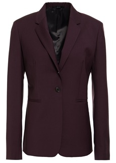 Paul Smith Woman Wool And Mohair-blend Blazer Burgundy