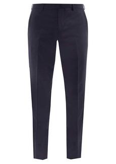 Paul Smith Wool-blend fresco slim-leg trousers