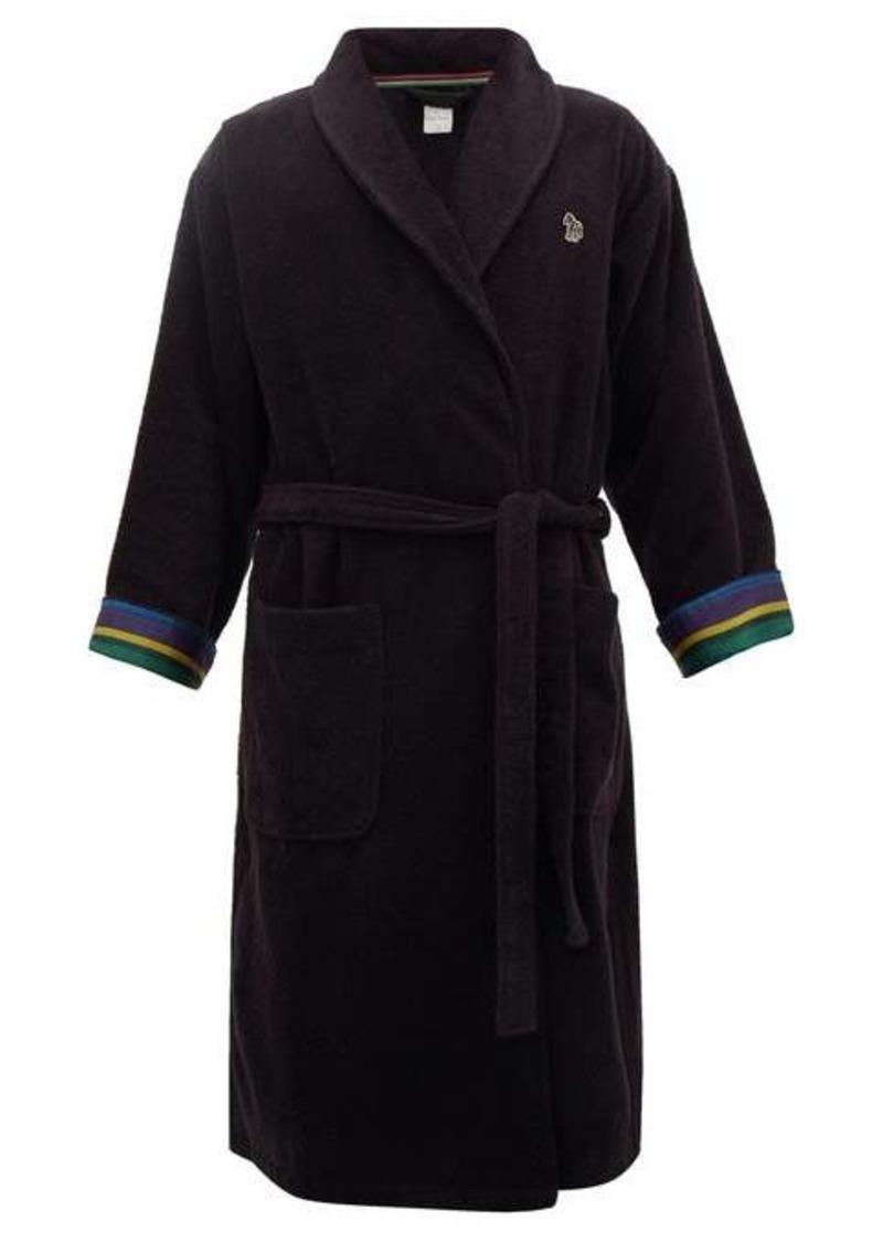 Paul Smith Zebra terry-cloth cotton towel robe