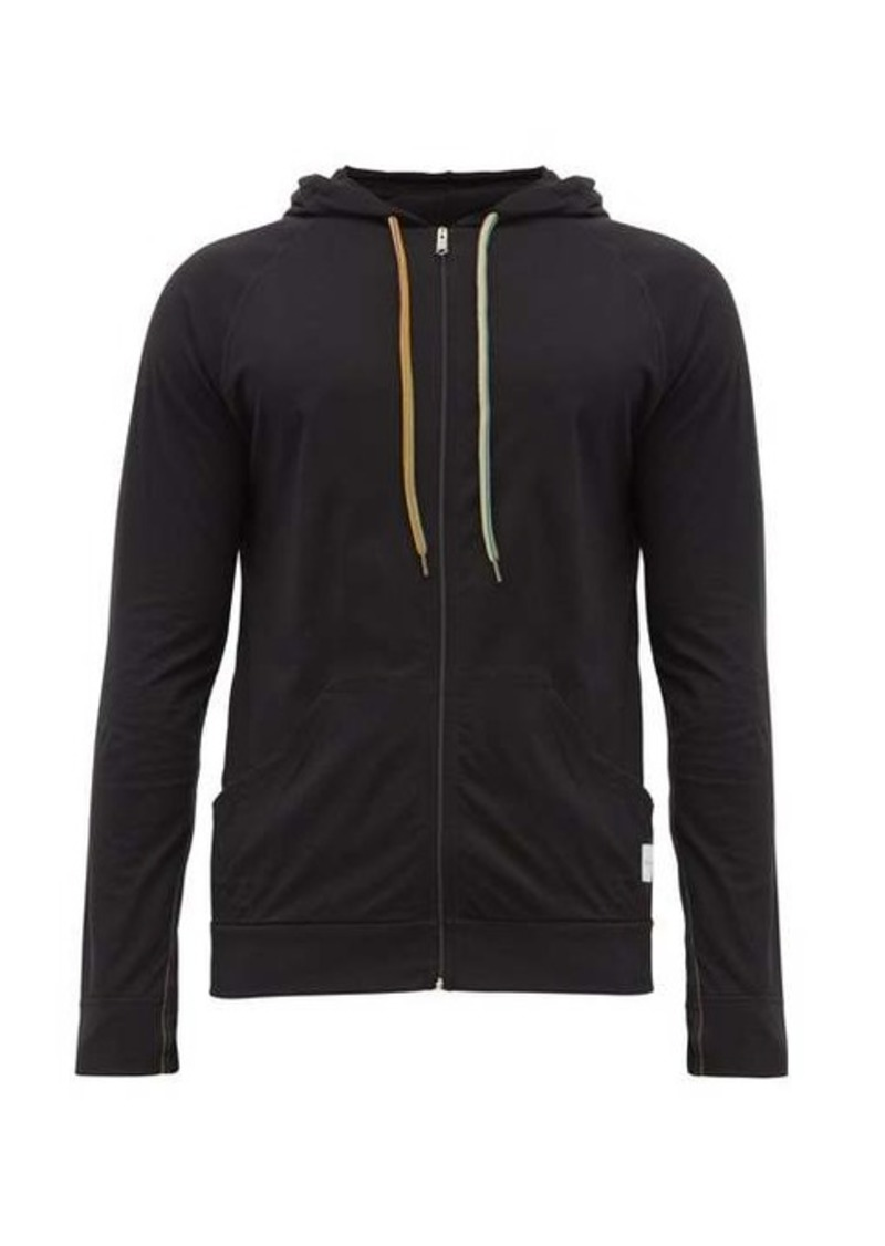 Paul Smith Zip-through cotton hooded sweatshirt