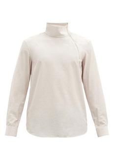 Paul Smith Zipped high-neck poplin shirt
