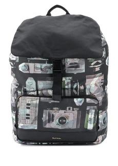 Paul Smith 'Paul's Camera' print flap backpack