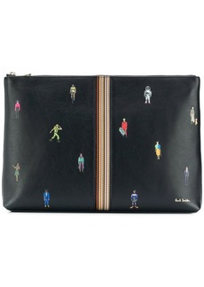 Paul Smith People print clutch
