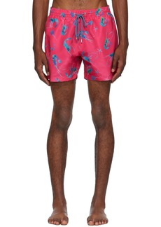 Paul Smith Pink Shrimp Print Swim Shorts