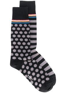 Paul Smith print-mix logo socks