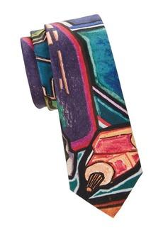 Paul Smith Printed Narrow Silk Tie