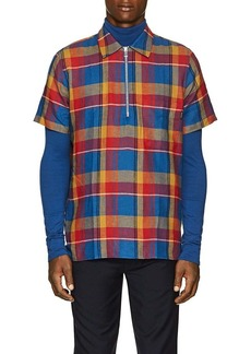 PS by Paul Smith Men's Plaid Cotton-Linen Shirt