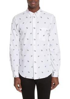 PS Paul Smith Allover Zebra Woven Shirt