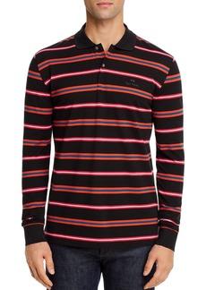 PS Paul Smith Cotton Pique Multi Striped Regular Fit Polo Shirt