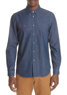PS Paul Smith Denim Shirt with Embroidery