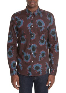 PS Paul Smith Flower Print Woven Shirt