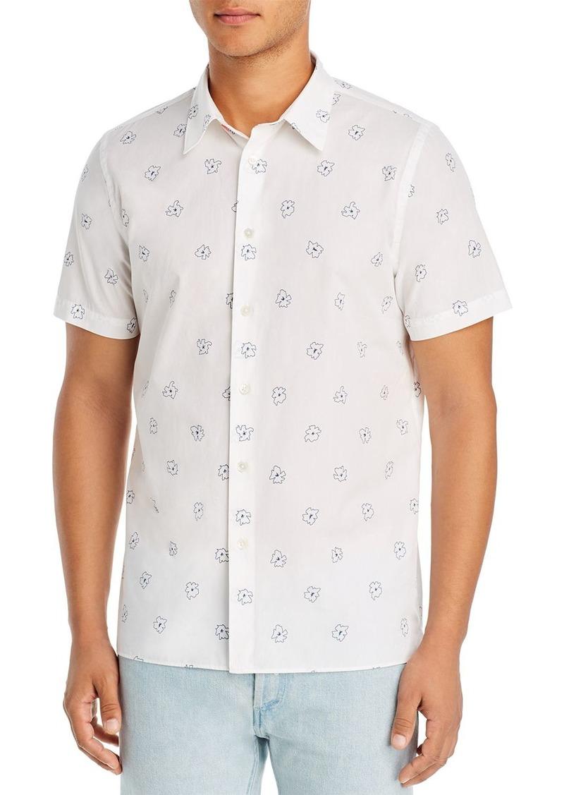 PS Paul Smith Flowers Regular Fit Short-Sleeve Shirt