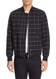 PS Paul Smith Grid Wool Blend Bomber Jacket