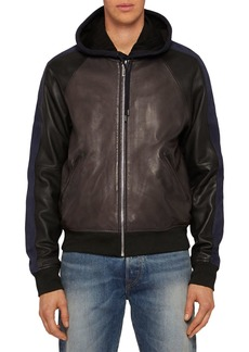 PS Paul Smith Leather Bomber Jacket