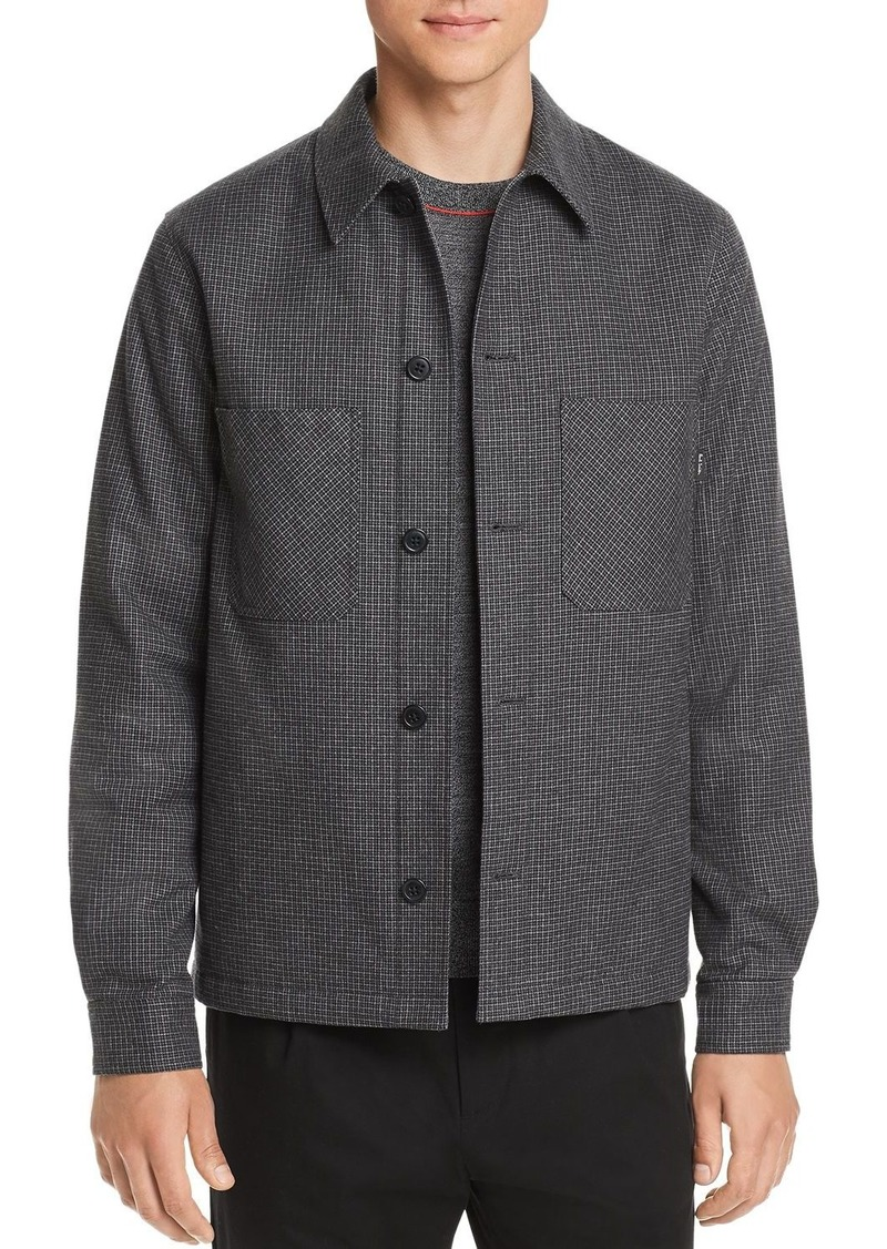 PS Paul Smith Micro-Houndstooth Shirt Jacket