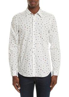 PS Paul Smith Mini Bird Print Woven Shirt