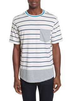 PS Paul Smith Mixed Stripe Pocket T-Shirt