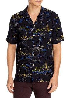 PS Paul Smith Mountain Print Casual Fit Shirt