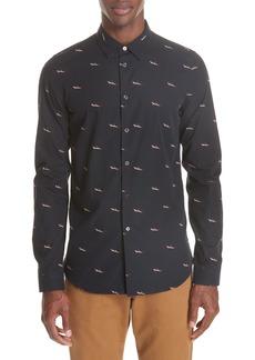 PS Paul Smith Shark Print Sport Shirt