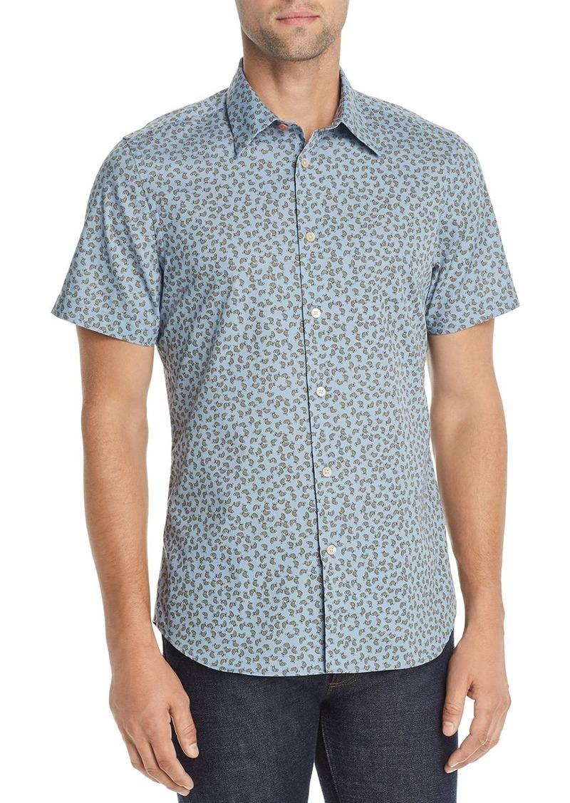 PS Paul Smith Short-Sleeve Turtle-Print Regular Fit Shirt