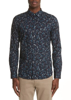 PS Paul Smith Slim Fit Leaf Print Shirt