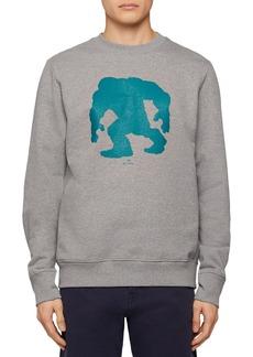 PS Paul Smith Yeti Cotton Silhouette Print Regular Fit Sweatshirt