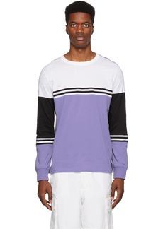Paul Smith Purple Organic Striped Long Sleeve T-Shirt