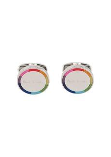 Paul Smith rainbow logo cufflink