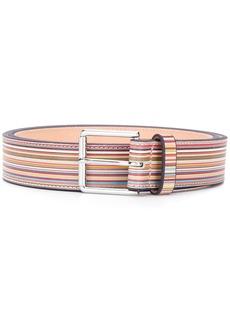 Paul Smith rainbow stripe belt