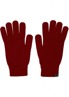 Paul Smith Red Wool Gloves
