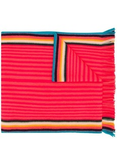 Paul Smith ribbed stripe scarf