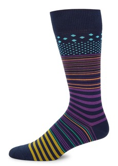 Paul Smith Screen Striped Knit Socks